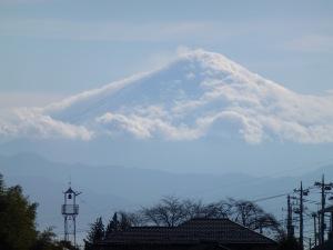 Mt.Fuji with clouds